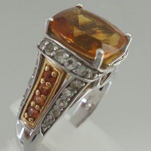 Sterling Victoria Wieck Orange Citrine Topaz Ring